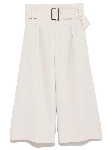 ベルト付スカート風ガウチョパンツ(ワイドパンツ)|Mila Owen(ミラ オーウェン)|ファッション通販|ウサギオンライン公式通販サイト