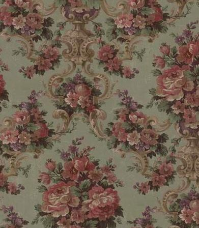 victorian wallpaper--I was gifted some fabric like this.  It is going to reupholster a chair for my boudoir.