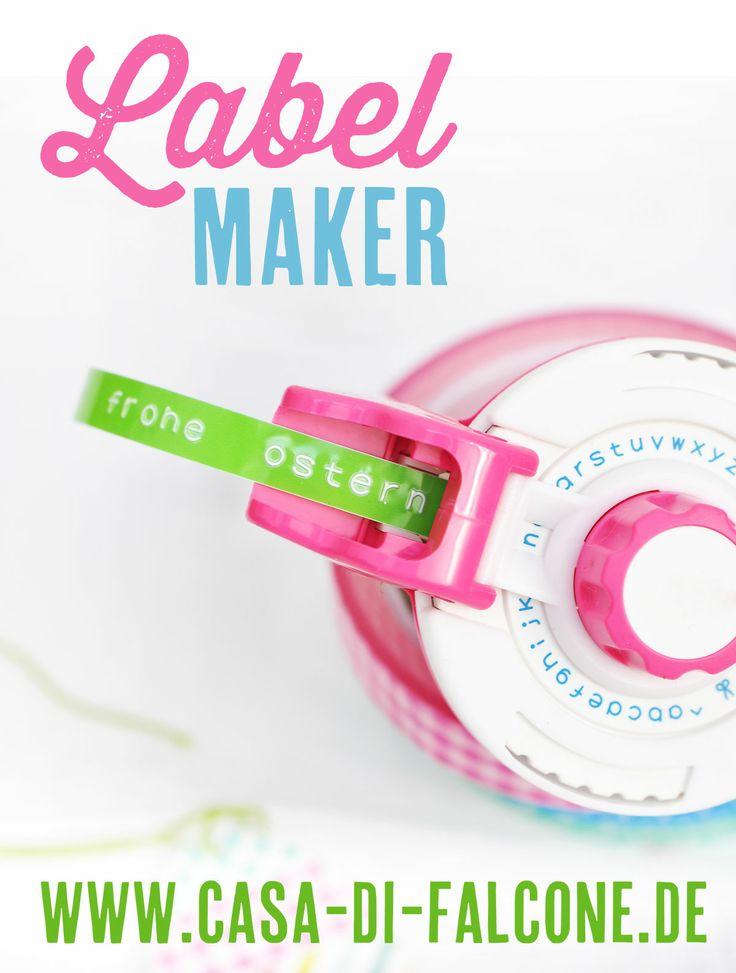 Label Maker mit bunten selbstklebenden Tapes erhältlich bei www.casa-di-falcone.de