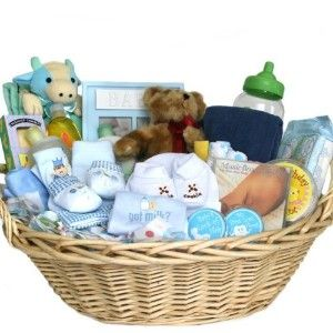 Baby Einstein gift baskets for boys | Deluxe Baby Gift Basket - BLUE for BOYS - Great Shower Gift... | Shop ...