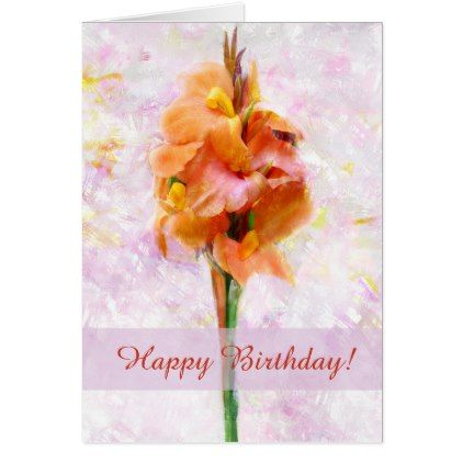 Lovely Cana Flower Custom Greeting Card - birthday cards invitations party diy personalize customize celebration