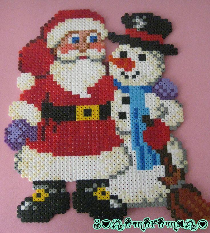 Artesanías y Manualidades La Zarza: Navidad en hama beads