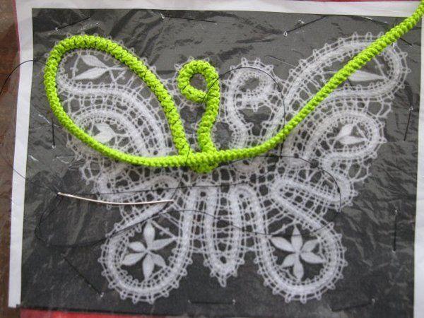 Transforming a Bobbin Lace pattern into a Romanian Point Lace pattern.