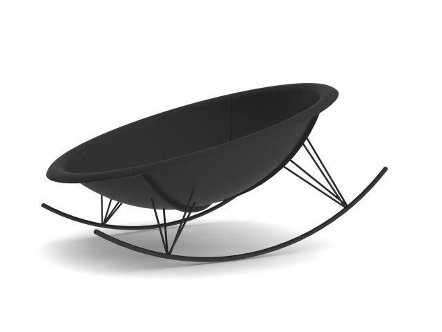 Fauteuil à bascule, IKEA PS 2017. Ce fauteuil rond à bascule est un véritable cocon sur lequel il fait bon se lover pour se balancer...