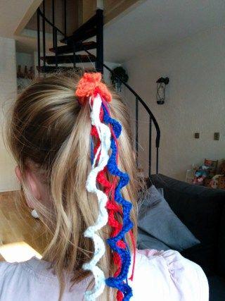 slinger voor in het haar, Koningsdag, 5 mei, haarspeldje