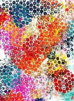 Afdrukken van bubbeltjesplastic