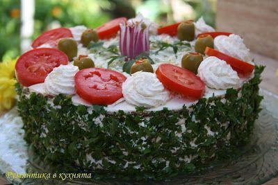 Румянтика в кухнята: СОЛЕНА ТОРТА с картофени палачинки