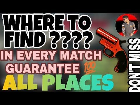 Where To Find Flare Gun In Pubg Mobilw Where To Find Flare Gun