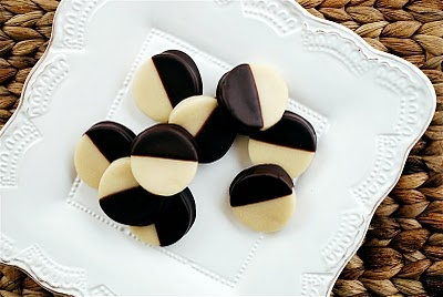 "Chocolate-Dipped Marzipan Coins -- ""only take about an hour from start to finish - including time for the chocolate to set."""
