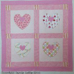 Using heart templates four and two inch from Carol Quilts