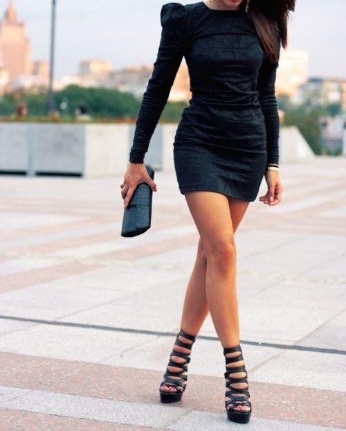 Fierce: Woman Fashion, Street Style, Dresses Shoes, Outfit, Black Shoes, Black Heels, Little Black Dresses, The Dresses, Style Fashion