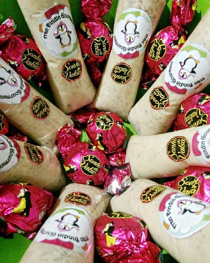 Dindin gourmet sabor sonho de valsa #frandindingourmet #fran #dindin #gourmet #dindin gourmet #sacole #geladinho #sobremesa #receitas #sonhodevalsa #lacta