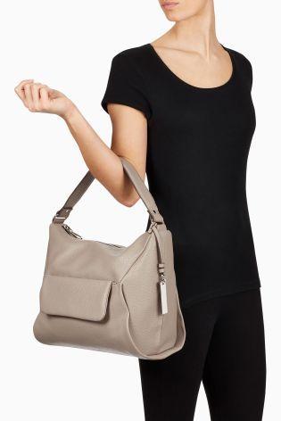 Buy Grey Soft Shoulder Bag from the Next UK online shop