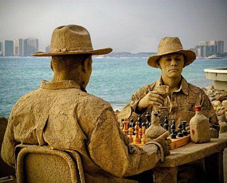 Шедевральные скульптуры из песка