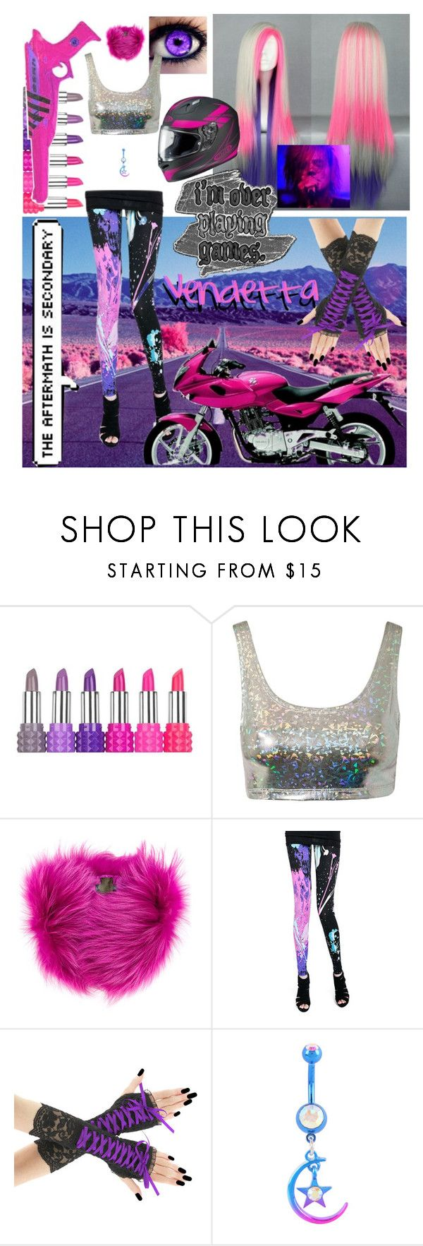 """""""Vendetta"""" by oceanforthestars ❤ liked on Polyvore featuring Kat Von D, COS, Estradeur, Mr & Mrs Italy and Hot Topic"""