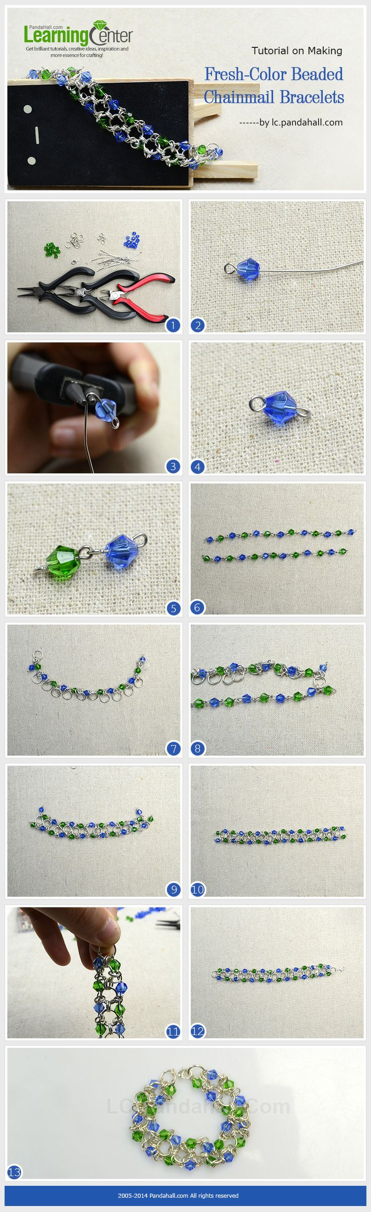 Tutorial on Making Fresh-Color Beaded Chainmail Bracelets