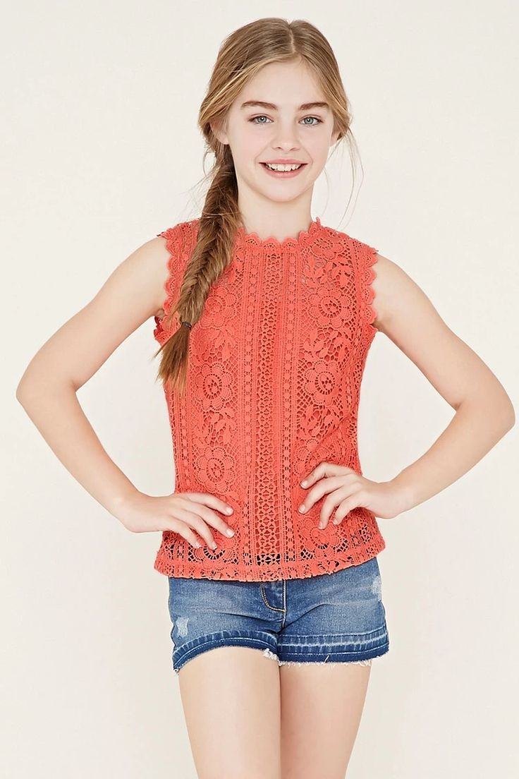 Girls Crochet Top (Kids) #f21kids