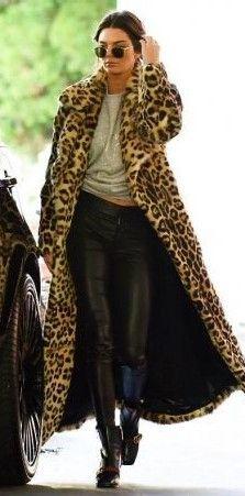 Leopard Print Maxi Coat