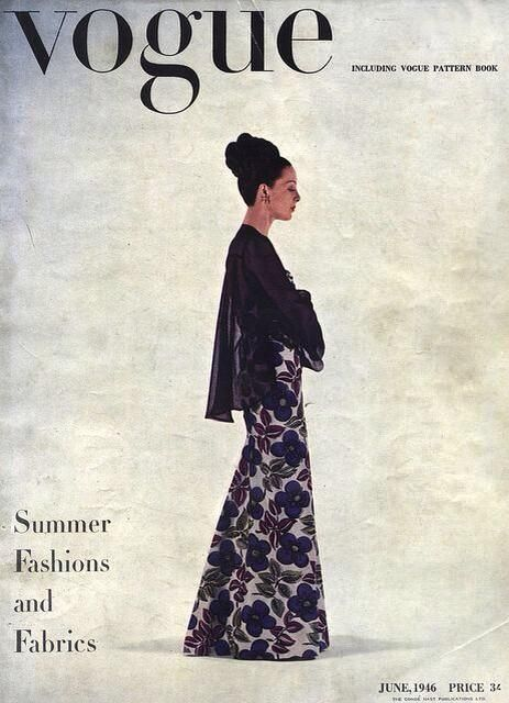 retro Vogue cover