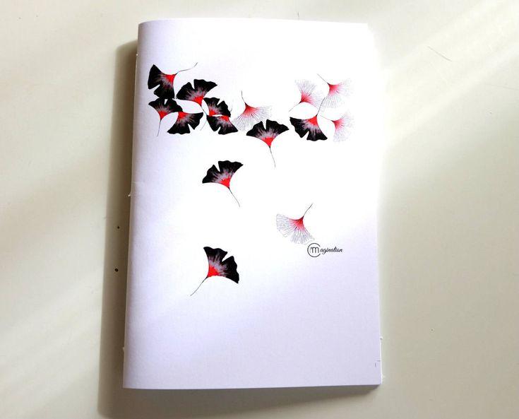 Quaderno illustrazione ginkgo biloba, japan design, botanica, fiori di ImImagination su Etsy