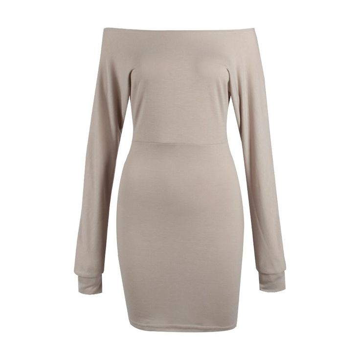 Wholesale cheap short mini dress occasion -sexy womens ladies winter off shoulder slim jumper sweater tops long sleeve bodycon party evening short mini pencil dress from Chinese party dresses supplier - erinzhang on DHgate.com.