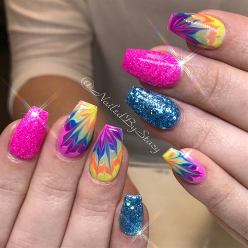 Tie Dye Awesomeness  by NailedByStacy from Nail Art Gallery