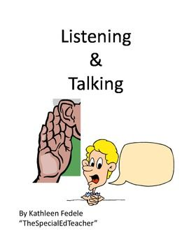 SOCIAL SKILLS BOOKS: Listening & Talking - This is a twist on the traditional social story. Many of the children that are having trouble with social skills   - Pinned by @PediaStaff – Please Visit  ht.ly/63sNt for all our pediatric therapy pins