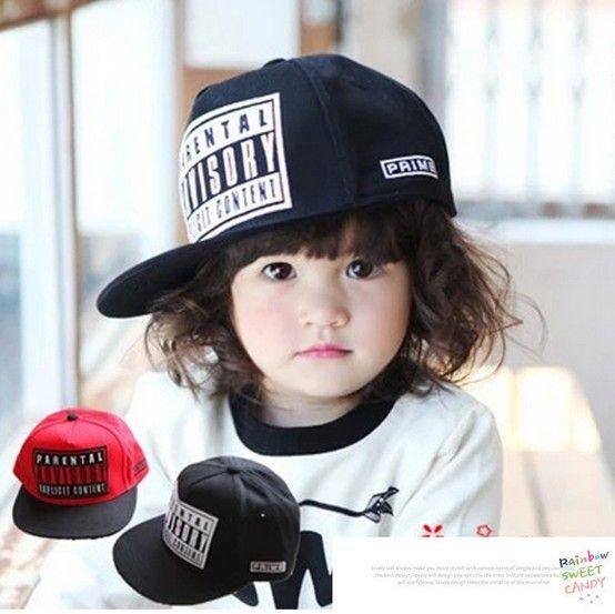 Бесплатная доставка 2016 девочка шляпа летом бейсболки ребенок шляпа ребенка snapback cap вышивка письмо плоским краев крышки хип-хоп cap