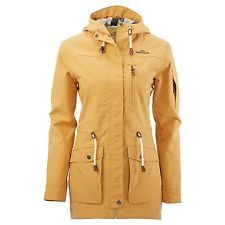 Kathmandu Expedite Womens Hooded Parka Wind Water Proof Jacket Rain Coat Yellow