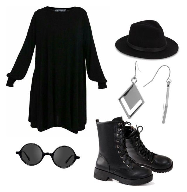 """""""Bold in black"""" by syddeon on Polyvore featuring Saks Fifth Avenue, Muse and Spring Street"""