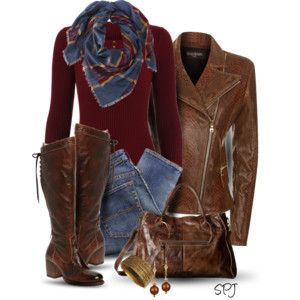 Worn Leather: I love EVERYTHING about this. I would just need booties instead.