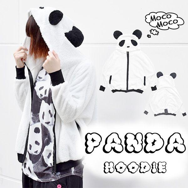パンダ/ふわふわ/モコモコ/パーカー/原宿系