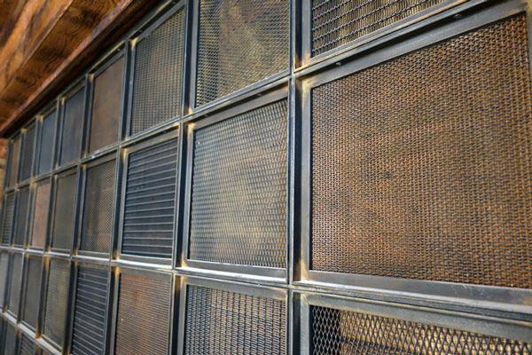 restaurant and bar design | Hilton hotel | London | hotel interior design | reclaimed style | industrial | nostalgic | bespoke | metal mesh screen