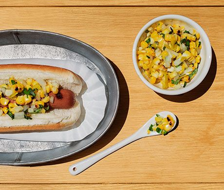 Charred Corn and Pepperoncini Relish with Basil | Recipe | Other ...