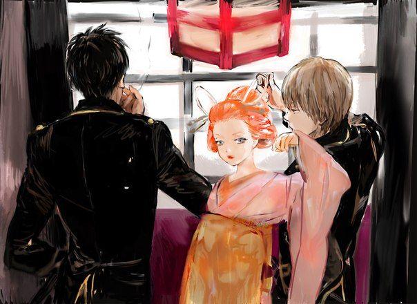 Hijikata, Kagura & Okita. Gintama