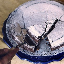 """Vistorta Chocolate Cake  """"While visiting the famed Brandolini family at their Vistorta wine estate in Friuli, they served us this dense cake—a family recipe."""""""