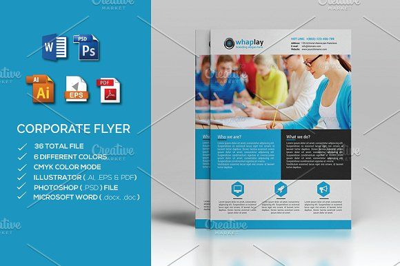 Corporate Flyer- MS word by Cristal Pioneer on @creativemarket