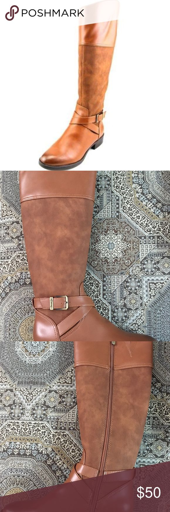 """Circus by Sam Edelman Parker Brown riding boot 7 Circus by Sam Edelman Parker Womens Fashion - Knee-High Description: Condition: New with box Brand/Style: Circus by Sam Edelman Parker Color: Whiskey , Measurements: Shaft measures 15.5"""", Circumference measures 15"""" and 1.25"""" heel Width: Medium (B, M) Sku: 4249012 Product Attributes: Age Gender : Womens Color Class : Beige Footwear Style : Riding Boots Footwear Toe Shape : Round Circus by Sam Edelman Shoes Heeled Boots"""