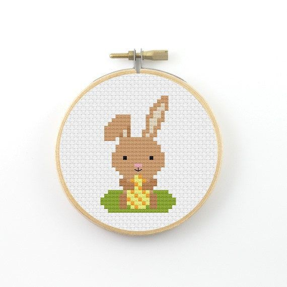 Easter bunny cross stitch pattern easter bunny pattern by ringcat