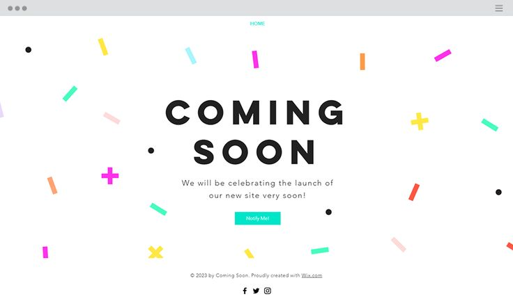 Celebration Coming Soon Website Template