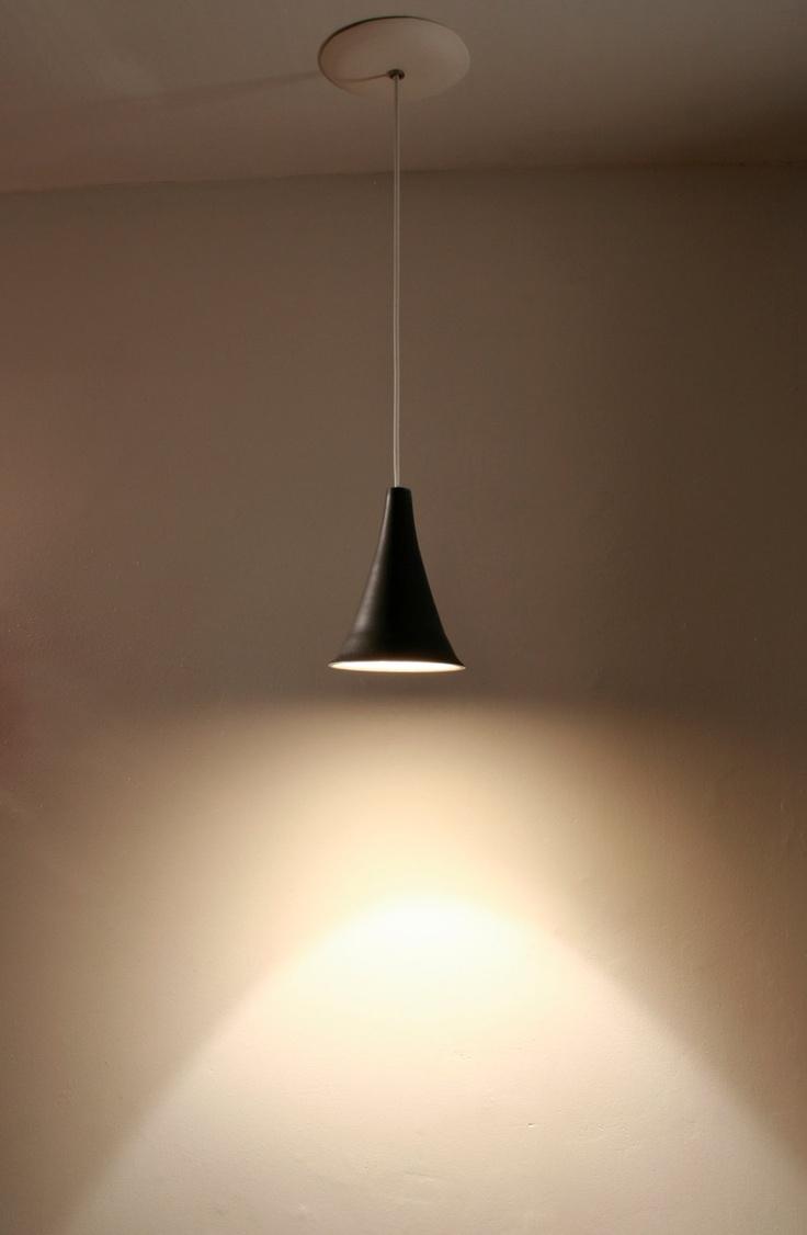 Pendant Lamp: Gramophone - Black porcelain