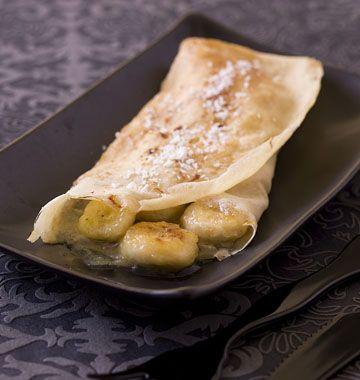 Crêpes sucrées à la banane, flambées au rhum - Recettes de cuisine Ôdélices