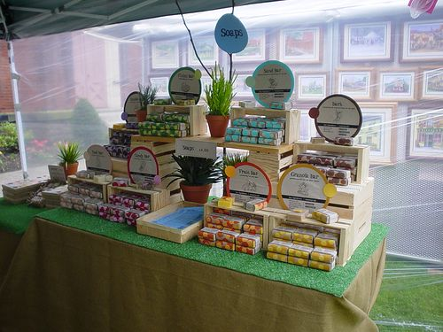 from Make It - a photo of a soap display