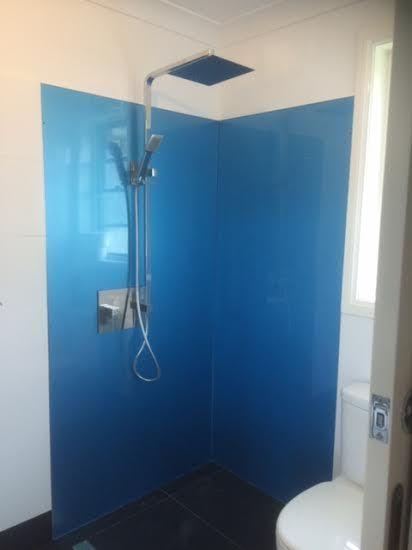 Custom #metallic #blue #colourback #acrylic #splashbacks by Innovative Splashbacks®