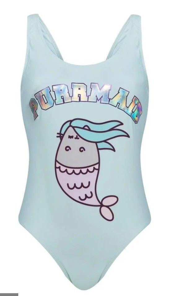 4d30ae1b324 Details about Ladies PUSHEEN THE CAT Swimsuit Swimming Costume Swimwear  Primark PURRMAID | Pusheen cat | Pusheen, Mermaid cat, Swimming costume for  ladies