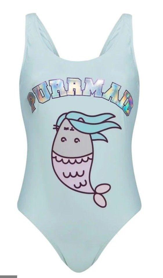 14c76e79467 Details about Ladies PUSHEEN THE CAT Swimsuit Swimming Costume Swimwear  Primark PURRMAID | Pusheen cat | Pusheen, Mermaid cat, Swimming costume for  ladies