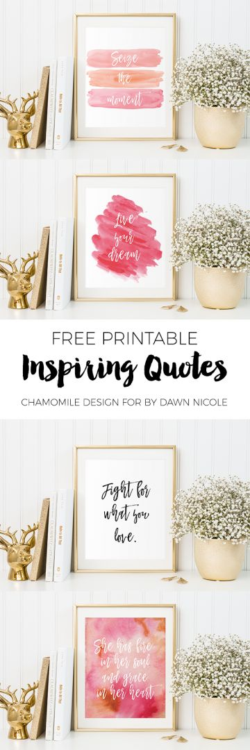 Free Inspirational Quote Printables