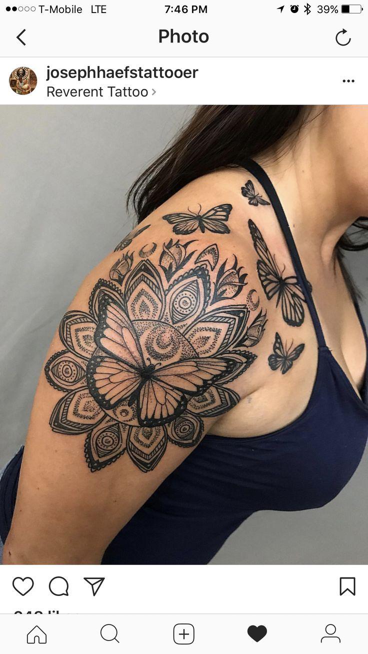 Beautiful art! Butterfly mandala