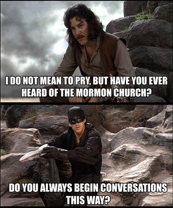 Have you heard of the Mormon Church? two of my fave things put into one.