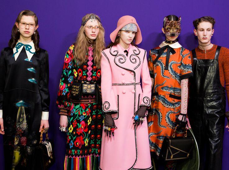 Gucci Models Backstage zum Herbst/Winter 2017/18
